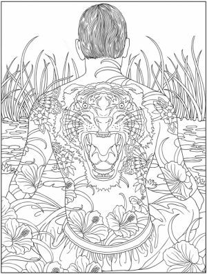 Challenging Trippy Coloring Pages for Adults   IF8W5