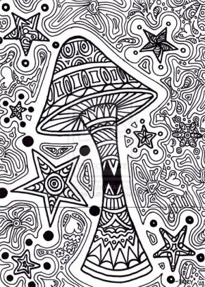 Challenging Trippy Coloring Pages for Adults   u2bh4