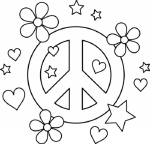Children's Printable Hearts Coloring Pages   BTB4A