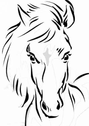 Children's Printable Horses Coloring Pages   v9hxD