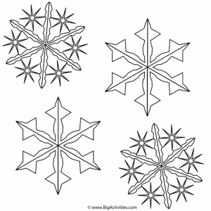 Christmas Snowflake Coloring Pages   44852