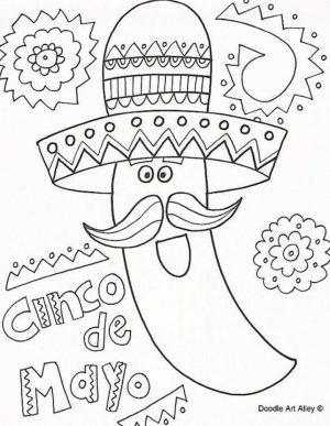 Cinco de Mayo Coloring Pages Childrens Printables   82176