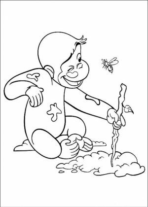 Curious George Coloring Pages Online   06741