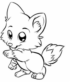 Cute Fox Coloring Pages   827xg