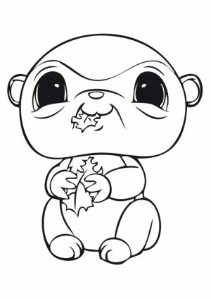 Cute Printable Coloring Pages of Littlest Pet Shop   25194