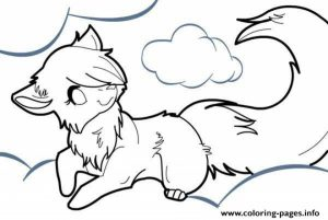 Cute Wolf Coloring Pages   21662