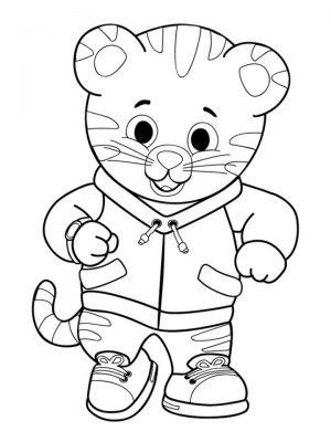 Daniel the Tiger Coloring Pages   67219
