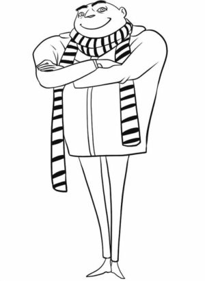 Despicable Me Coloring Pages for Kids   09561