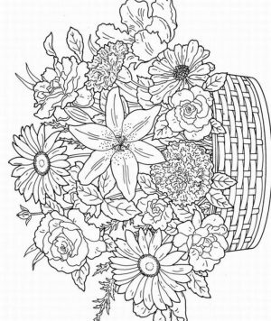detailed flower coloring pages for adults printable – 75931