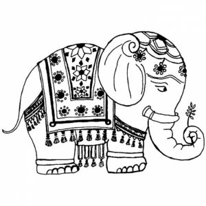 Difficult Elephant Coloring Pages for Grown Ups   6f54f