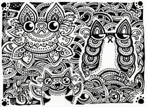 Difficult Trippy Coloring Pages for Grown Ups   C7VR5