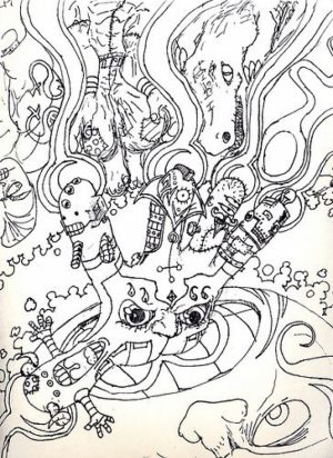 Difficult Trippy Coloring Pages for Grown Ups   d8cte