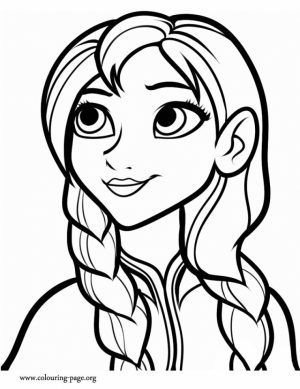 Disney Frozen Coloring Pages Princess Anna   37184