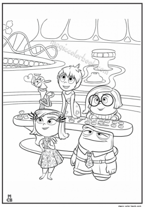 Disney Inside Out Coloring Pages Free to Print   51178