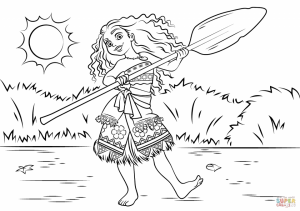 Disney Moana Coloring Pages   TW24G