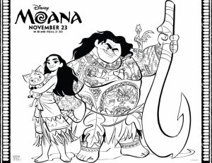 Disney Moana Coloring Pages   UH61C