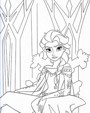 Disney Princess Elsa Coloring Pages Free to Print   AGR51