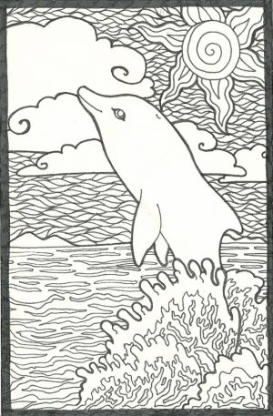 Dolphin Coloring Pages Free to Print   38104