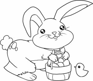 Easter Bunny Coloring Pages for Kids   65883