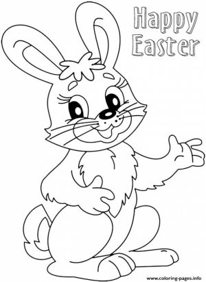Easter Bunny Coloring Pages Printable   17411