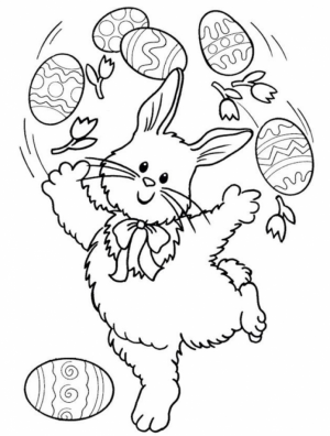 Easter Bunny Coloring Pages Printable   39601