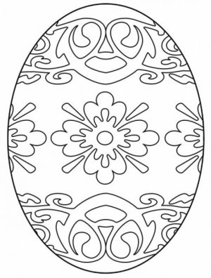Easter Egg Hard Coloring Pages for Adults   50018