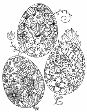 Easter Egg Hard Coloring Pages for Adults   57748