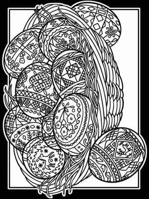 Easter Egg Hard Coloring Pages for Adults   76416