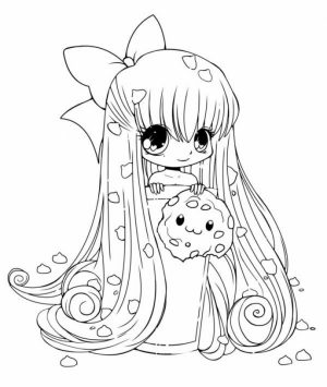 Easy Chibi Coloring Pages for Preschoolers   8PS18