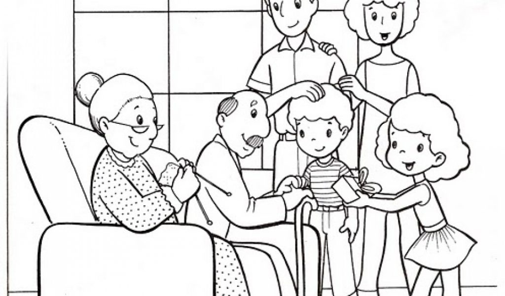 Preschool coloring pages family coloring pages ideas for Printable family coloring pages