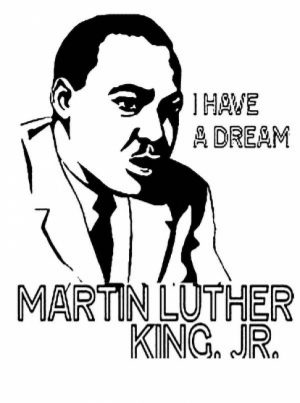 Easy Martin Luther King Jr Coloring Pages for Preschoolers   9iz28