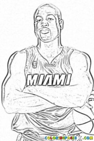 Easy NBA Coloring Pages for Preschoolers   8PS18