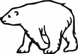 Easy Polar Bear Coloring Pages for Preschoolers   9iz28