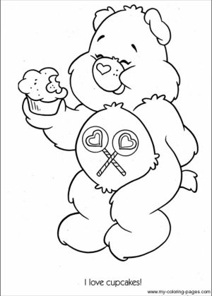 Easy Preschool Printable of Care Bear Coloring Pages   qov5f