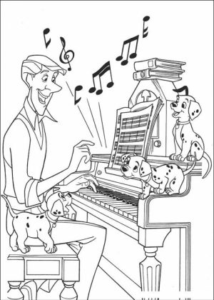 Easy Preschool Printable of Music Coloring Pages   73733