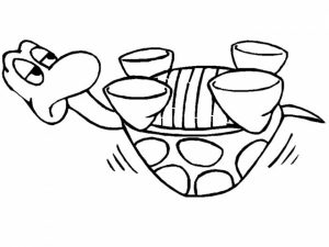Easy Preschool Printable of Turtle Coloring Pages   qov5f