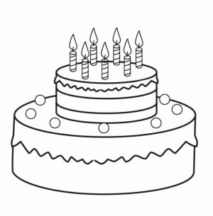 Easy Printable Cake Coloring Pages for Children   la4xx