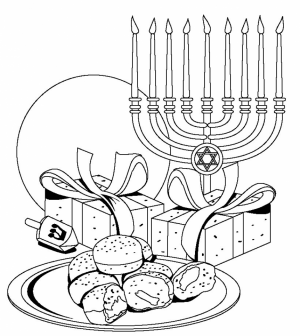 Easy Printable Hanukkah Coloring Pages for Children   PTyqX