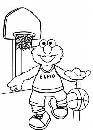 Elmo Coloring Pages Fun Kids Printable   41805