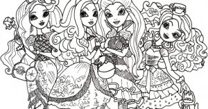 Ever After High Coloring Pages Free Printable   76955