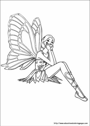 Fairy Coloring Pages Free Printable   30067