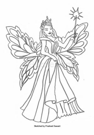 Fairy Coloring Pages Free Printable   69961