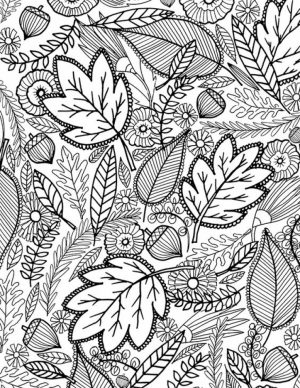 Autumn/Fall Coloring Pages for Adults