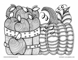 Fall Coloring Pages for Grown Ups Free Printable   32xc7
