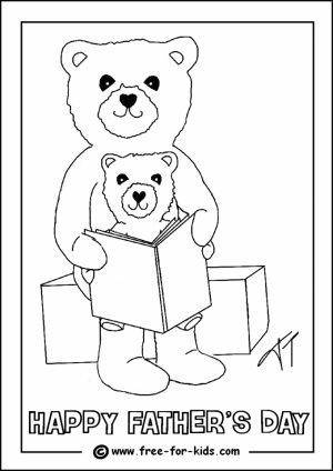 Father's Day Card Coloring Pages   6ay5m