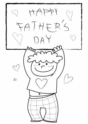 Father's Day Coloring Pages Printable   gah3m
