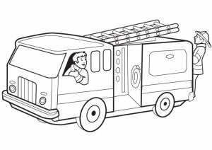 Fire Truck Coloring Page Printable for Kids   18640