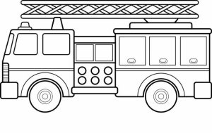 Fire Truck Coloring Page to Print Online   4802