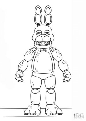 fnaf coloring pages ps51