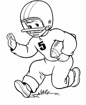 Football Player Coloring Pages to Print Online   95632